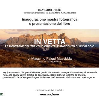 Presentazione IN VETTA 09/11/2013 Rovereto