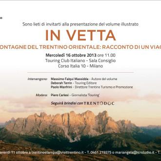 Presentazione IN VETTA 16/10/2013 Milano
